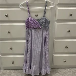 NWT adorable blue/purple striped dress! Size XS